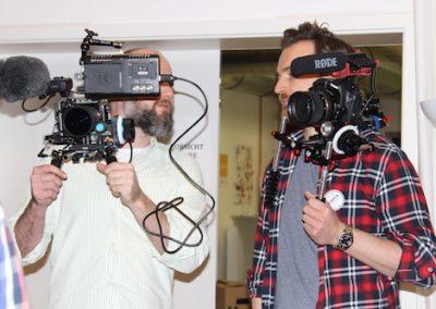 Kamerateam für die Filmaufnahme 2015