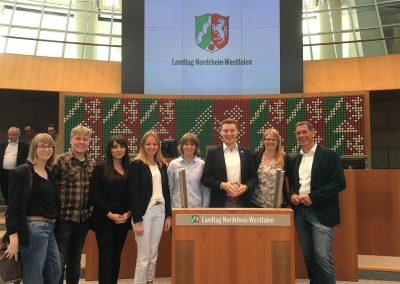 UTOPiSTEN besuchen den Landtag in Düsseldorf