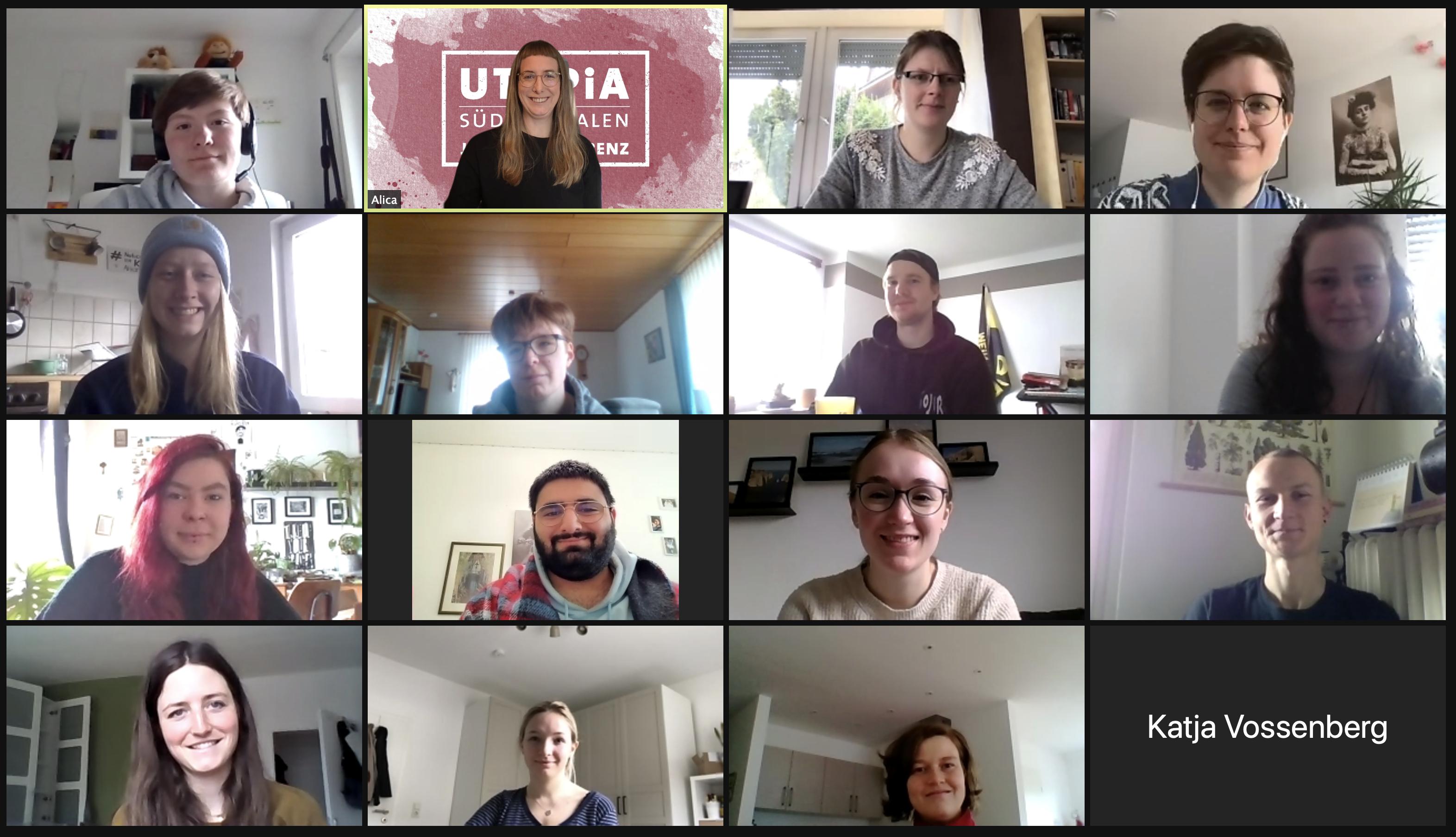 Jahresübersicht der UTOPIA-Veranstaltungen